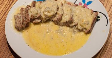 wołowina w sosie serowym, boeuf au bleu, przepis, łatwy przepis, męskie gotowanie, meska kuchnia