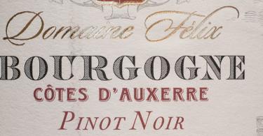 Domain Felix Bourgogne Cotes d'Auxerre Pinot Noir
