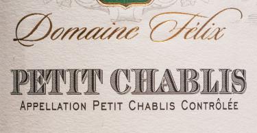 Domaine Felix Petit Chablis