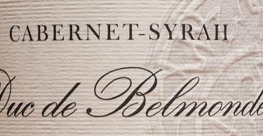 Duc de Belmonde Cabernet–Syrah