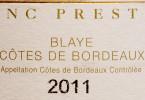 Monconseil Gazin Blanc Prestige Blaye Cotes de Bordeaux