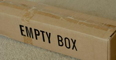 Moja głowa niczym puste pudełko
